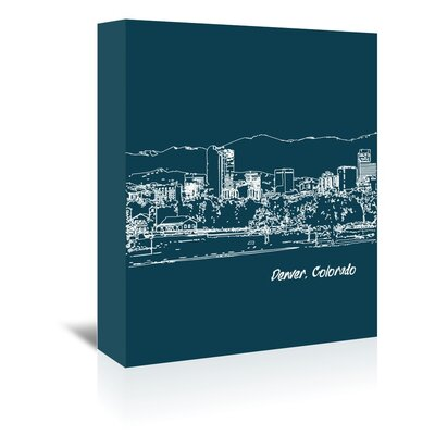 Americanflat 'Skyline Denver 3' by Brooke Witt Graphic Art Wrapped on Canvas