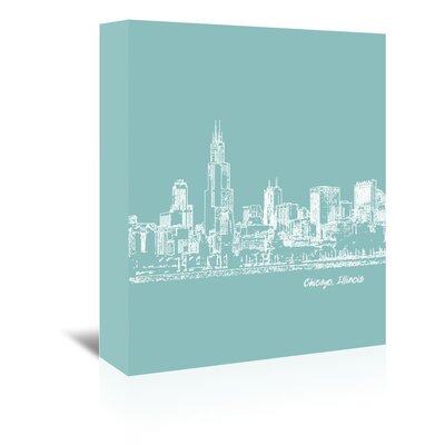 Americanflat 'Skyline Chicago 5' by Brooke Witt Graphic Art Wrapped on Canvas