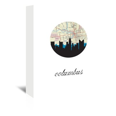 Americanflat 'Columbus Map Skyline' by Paper Finch Graphic Art Wrapped on Canvas