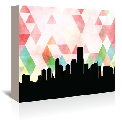 Americanflat 'JerseyCity_Triangle' by PaperFinch Graphic Art Wrapped on Canvas