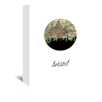 Americanflat 'Bristol Map Skyline' by Paper Finch Graphic Art Wrapped on Canvas