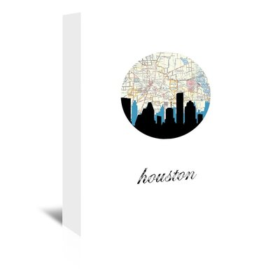 Americanflat 'Houston Map Skyline' by PaperFinch Graphic Art Wrapped on Canvas
