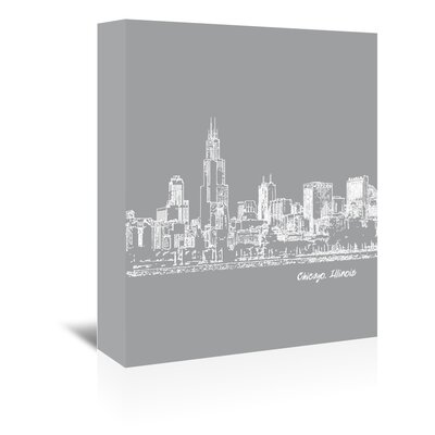 Americanflat 'Skyline Chicago 2' by Brooke Witt Graphic Art Wrapped on Canvas