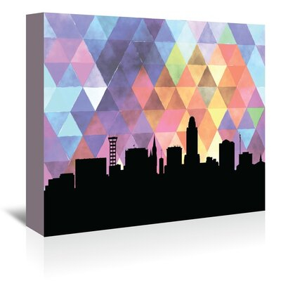 Americanflat 'Lincoln_Triangle' by PaperFinch Graphic Art Wrapped on Canvas