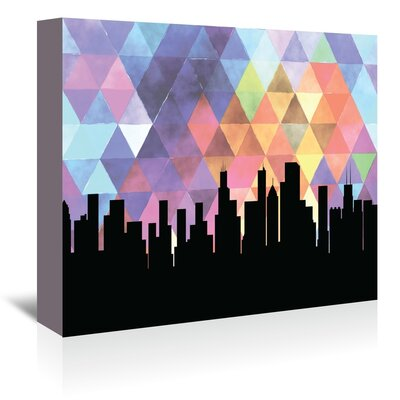 Americanflat 'Chicago Triangle' by Paper Finch Graphic Art Wrapped on Canvas
