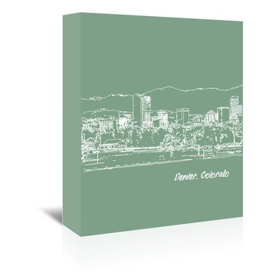 Americanflat 'Skyline Denver 6' by Brooke Witt Graphic Art Wrapped on Canvas
