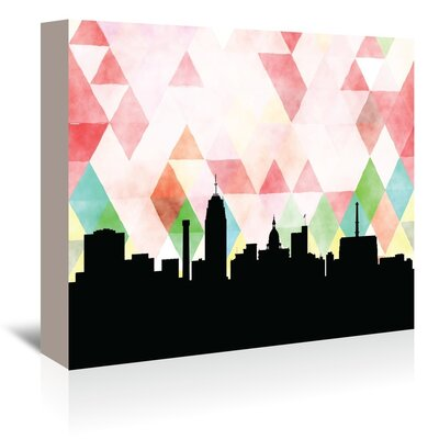 Americanflat 'Lansing_Triangle' by PaperFinch Graphic Art Wrapped on Canvas