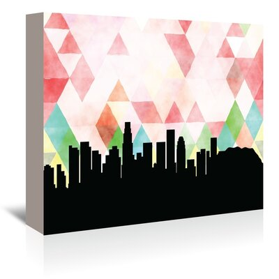 Americanflat 'LosAngeles_Triangle' by PaperFinch Graphic Art Wrapped on Canvas