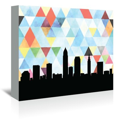 Americanflat 'Cleveland Triangle' by Paper Finch Graphic Art Wrapped on Canvas