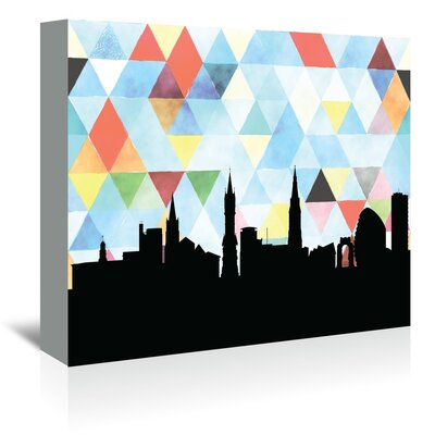 Americanflat 'Leicester_Triangle' by PaperFinch Graphic Art Wrapped on Canvas