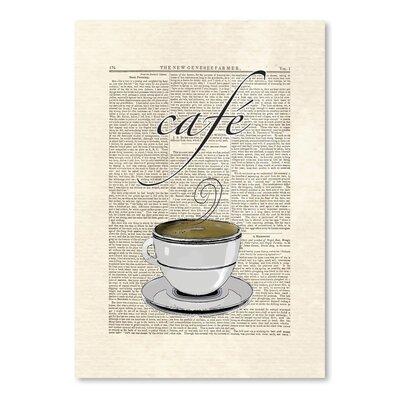 Americanflat 'Cafe Coffee' by Matt Dinniman Graphic Art