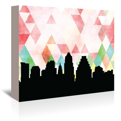 Americanflat 'Austin Triangle' by Paper Finch Graphic Art Wrapped on Canvas