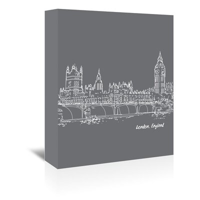Americanflat 'Skyline London 1' by Brooke Witt Graphic Art Wrapped on Canvas