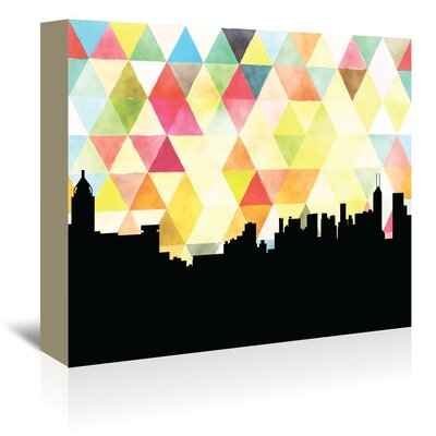 Americanflat 'HongKong_Triangle' by PaperFinch Graphic Art Wrapped on Canvas