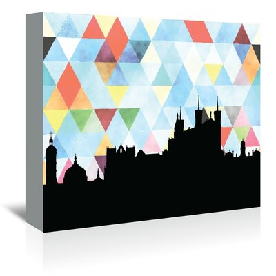 Americanflat 'Lyon_Triangle' by PaperFinch Graphic Art Wrapped on Canvas