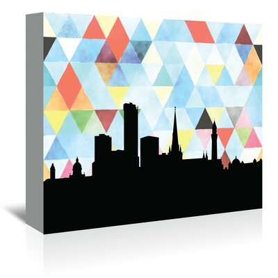 Americanflat 'Birmingham UK Triangle' by Paper Finch Graphic Art Wrapped on Canvas
