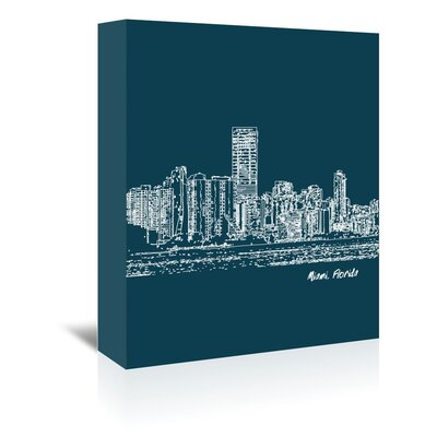 Americanflat 'Skyline Miami 3' by Brooke Witt Graphic Art Wrapped on Canvas