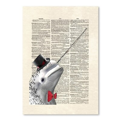 Americanflat 'Narwhal Dandy' by Matt Dinniman Graphic Art