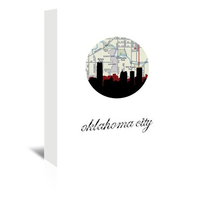 Americanflat 'OK City Map Skyline' by PaperFinch Graphic Art Wrapped on Canvas