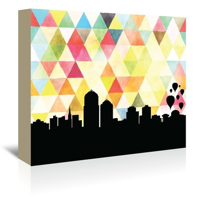 Americanflat 'Albuquerque Triangle' by Paper Finch Graphic Art Wrapped on Canvas