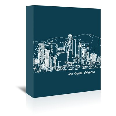 Americanflat 'Skyline Los Angeles 3' by Brooke Witt Graphic Art Wrapped on Canvas