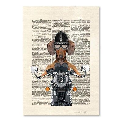 Americanflat 'Doxie Danger' by Matt Dinniman Graphic Art