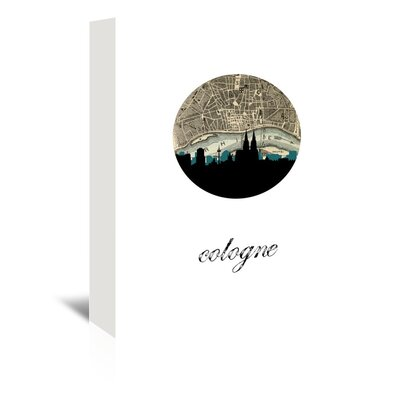 Americanflat 'Cologne Map Skylines' by Paper Finch Graphic Art Wrapped on Canvas