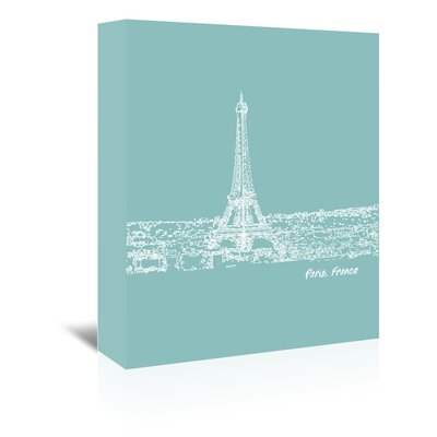 Americanflat 'Skyline Paris 5' by Brooke Witt Graphic Art Wrapped on Canvas