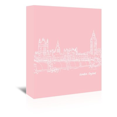Americanflat 'Skyline London 9' by Brooke Witt Graphic Art Wrapped on Canvas