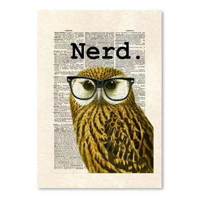 Americanflat 'Owl Nerd' by Matt Dinniman Graphic Art