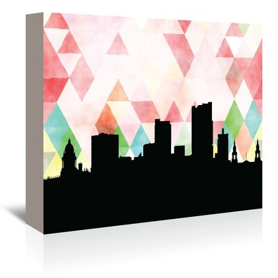 Americanflat 'Leeds_Triangle' by PaperFinch Graphic Art Wrapped on Canvas