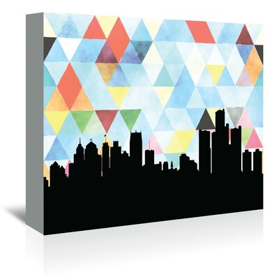 Americanflat 'Detroit_Triangle' by PaperFinch Graphic Art Wrapped on Canvas