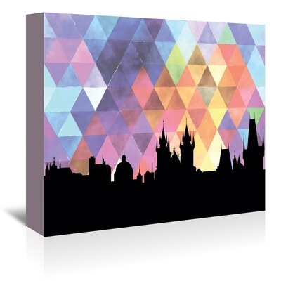 Americanflat 'Prague_Triangle' by PaperFinch Graphic Art Wrapped on Canvas