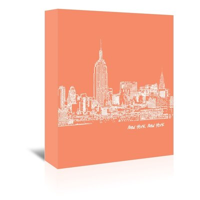 Americanflat 'Skyline New York City 8' by Brooke Witt Graphic Art Wrapped on Canvas