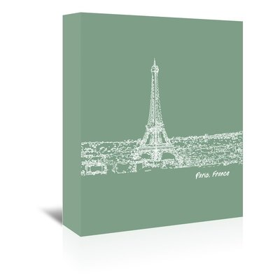 Americanflat 'Skyline Paris 6' by Brooke Witt Graphic Art Wrapped on Canvas