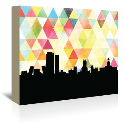 Americanflat 'Madrid_Triangle' by PaperFinch Graphic Art Wrapped on Canvas
