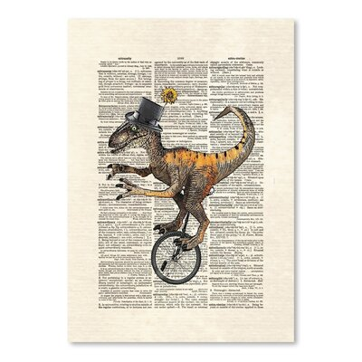 Americanflat 'Raptorunicycle' by Matt Dinniman Graphic Art