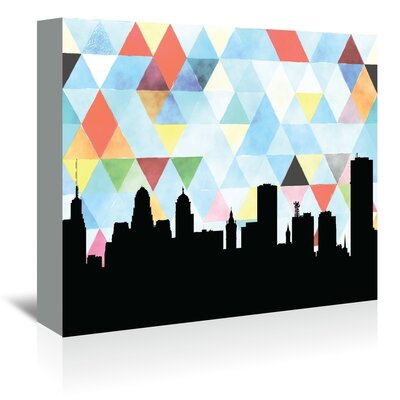 Americanflat 'Buffalo Triangle' by Paper Finch Graphic Art Wrapped on Canvas