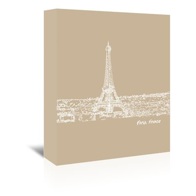 Americanflat 'Skyline Paris 7' by Brooke Witt Graphic Art Wrapped on Canvas