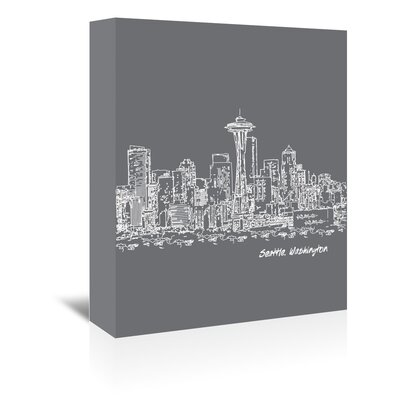 Americanflat 'Skyline Seattle 1' by Brooke Witt Graphic Art Wrapped on Canvas