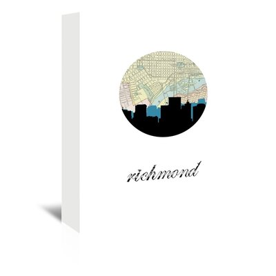 Americanflat 'Richmond Map Skyline' by PaperFinch Graphic Art Wrapped on Canvas
