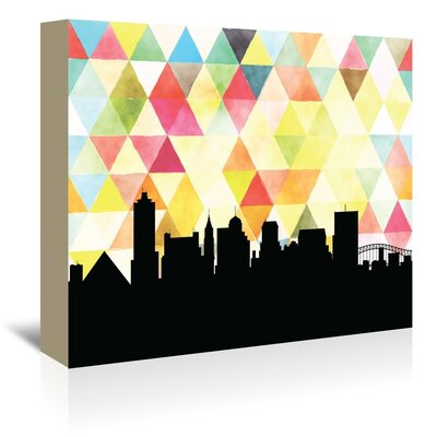 Americanflat 'Memphis_Triangle' by PaperFinch Graphic Art Wrapped on Canvas
