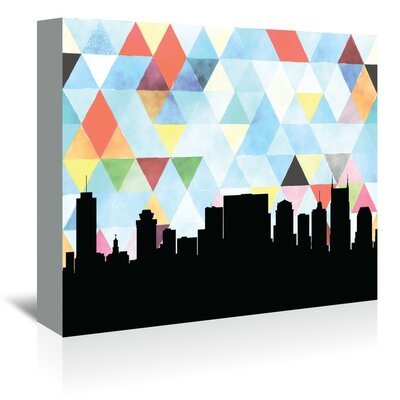 Americanflat 'Nashville_Triangle' by PaperFinch Graphic Art Wrapped on Canvas