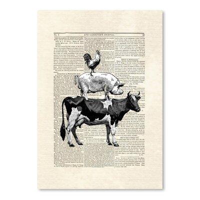 Americanflat 'Cow Stack' by Matt Dinniman Graphic Art