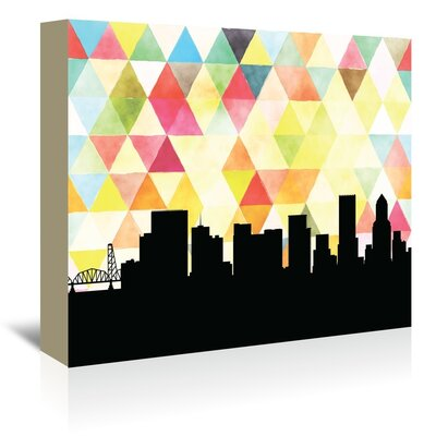 Americanflat 'Portland_Triangle' by PaperFinch Graphic Art Wrapped on Canvas