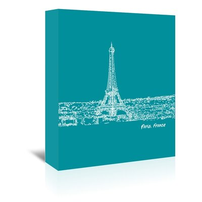 Americanflat 'Skyline Paris 4' by Brooke Witt Graphic Art Wrapped on Canvas