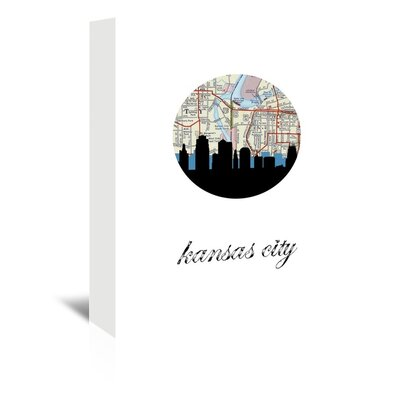 Americanflat 'Kansas City Map Skyline' by PaperFinch Graphic Art Wrapped on Canvas