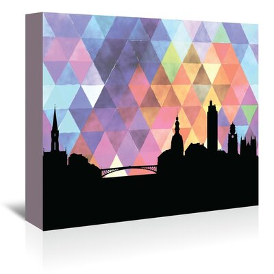 Americanflat 'Nantes_Triangle' by PaperFinch Graphic Art Wrapped on Canvas
