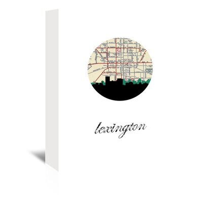 Americanflat 'Lexington Map Skyline' by PaperFinch Graphic Art Wrapped on Canvas