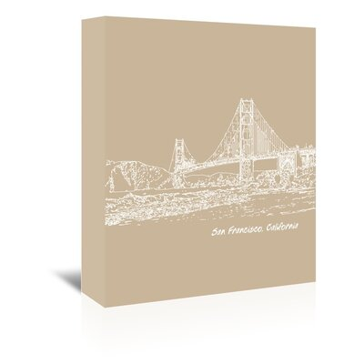 Americanflat 'Skyline San Francisco 7' by Brooke Witt Graphic Art Wrapped on Canvas